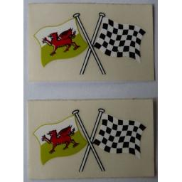 Sticker - Welsh Chequer Crossed Flags 01.jpg