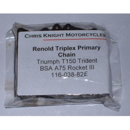 Renold Primary Chain - Triumph T150 Trident, BSA A75 Rocket III