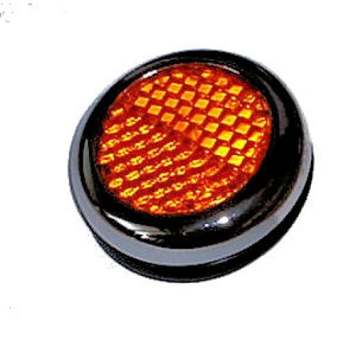 Lucas Amber Reflector with Chrome Bezel - RER25