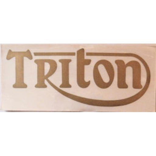 Triton Badge / Sticker in Gold