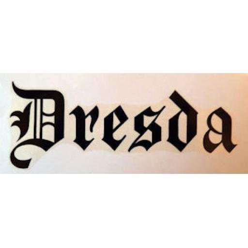 Dresda Script Dry Transfer - Black - Petrol/Fuel/Gas Tank