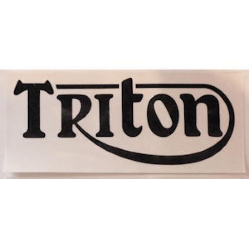 Triton Badge/Sticker in Black