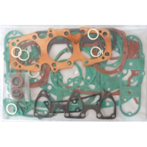 Engine Gasket Set - Triumph Trident T160V, 750cc 3 Cylinder with Cylinder Head Gasket - 1975-77 - 839 TRI - Made in England