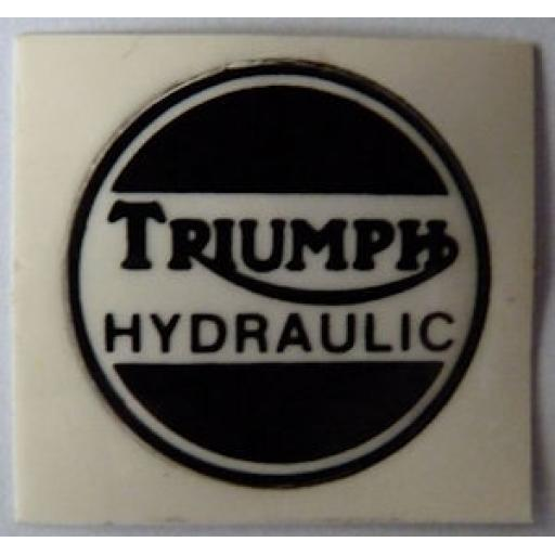 Triumph Hydraulic Sticker for Chromed Brake Caliper Cover - 60-4156