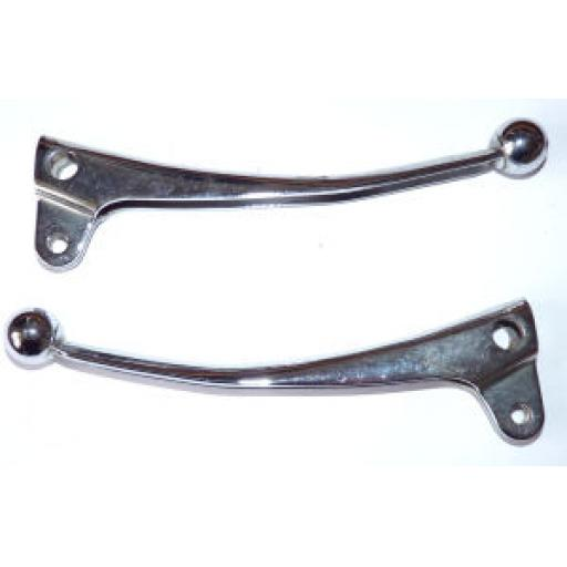 Chromed Clutch and Brake Levers for Triumph BSA Alloy Handlebar Switches 169SA - Used - 60-4206