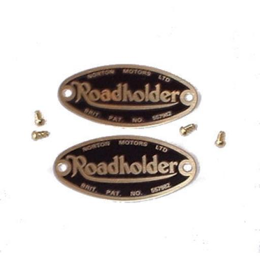 Norton Roadholder Fork Badge - Brass