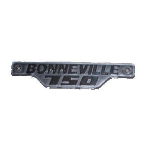 Side Panel Badge - Bonneville 750 - Silver/Silver