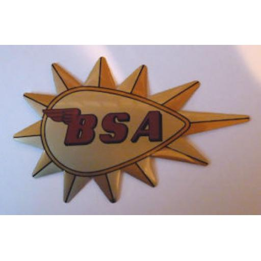 BSA Sticker Gold Background with Gold Starburst
