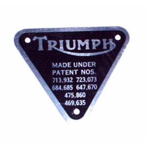 Triumph Patent Plate - 70-4016