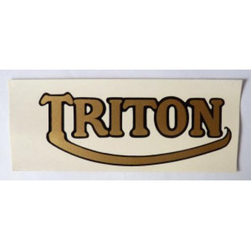 Triton Gold Logo Water Slide Transfer 4 x 1.5 inch