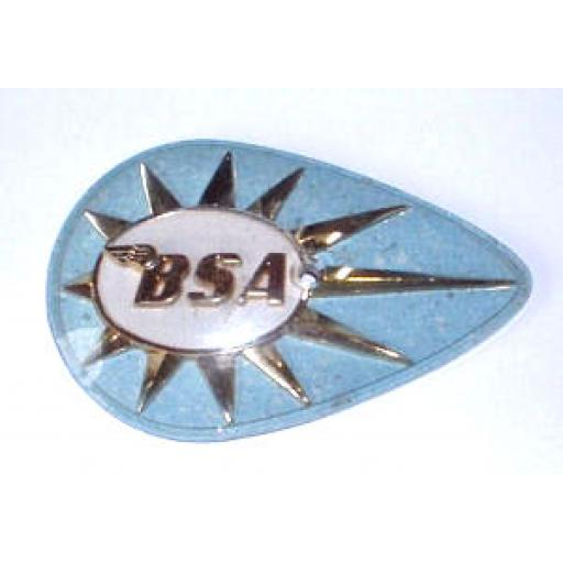 Tank Badge - BSA Pear Shape - Turquoise/Gold