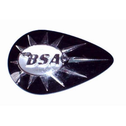 Tank Badge - BSA Black Pear Shape 01.JPG