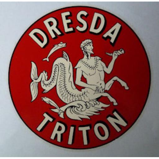 Dresda Triton Logo Round Dry Transfer