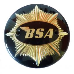 Tank Seat Badge BSA Gold Star Black and Gold 01.jpg