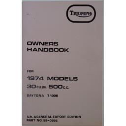 Triumph Owners Handbook 500cc T100R Daytona 1974 01.jpg