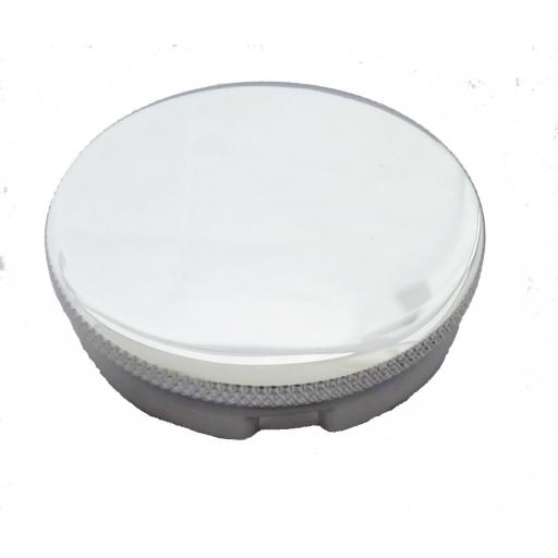 Chromed oil filler cap - 2 inch with breather hole