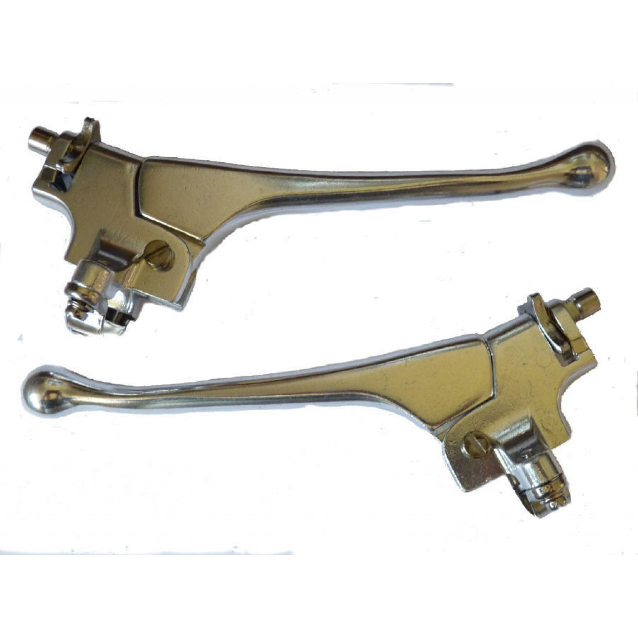 "Chromed steel For 7//8/"" diameter handlebars PAIR of bicycle BRAKE LEVERS"