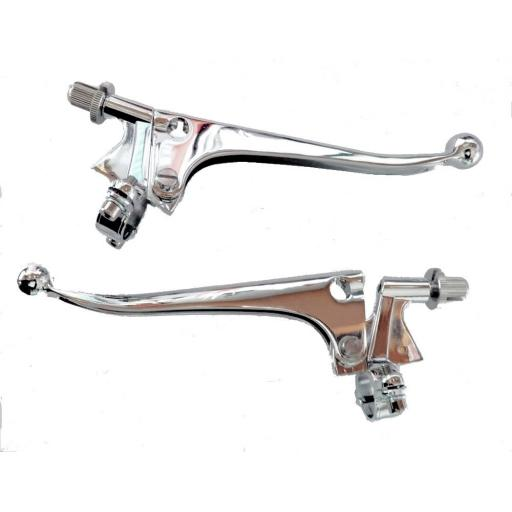 Chromed Ball End Control Levers with Ball End - 7/8 inch handlebar fitting.