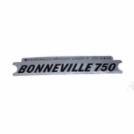 Panel Badge Motif Sticker - Bonneville 750 - Black on Silver 60-4148