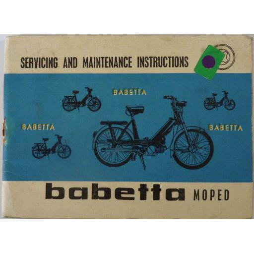 Babetta Moped Servicing and Maintenance Instructions