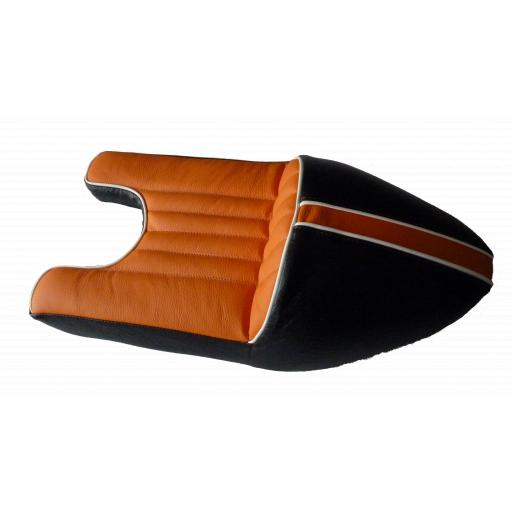 Black and Orange Leather Wideline Triton Seat