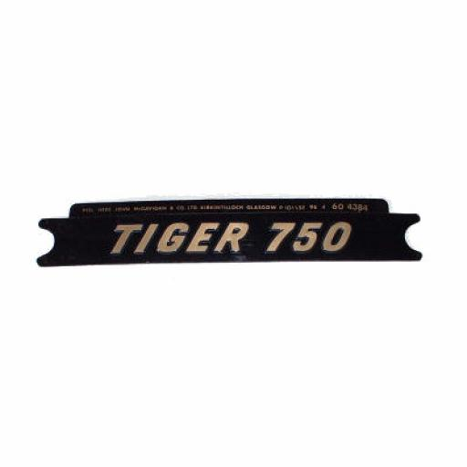 Panel Badge Sticker - Tiger 750 - 60-4147