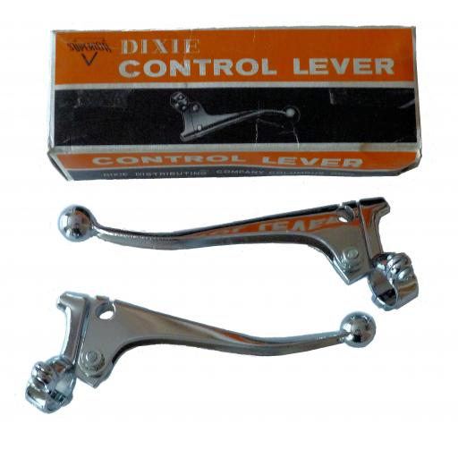 Quality Chromed Clutch and Brake Levers with Ball End - NO ADJUSTER