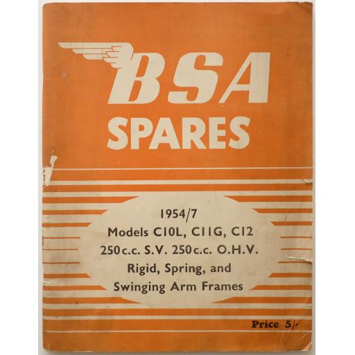 BSA Spare Parts List - BSA C10L, C11G and C12 1954-57