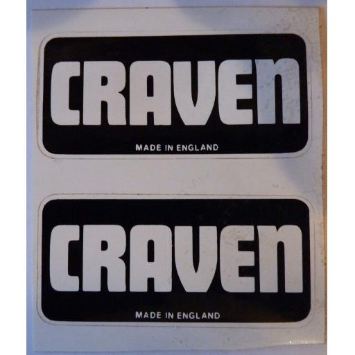 Craven Self Adhesive Badge/Sticker Black and White