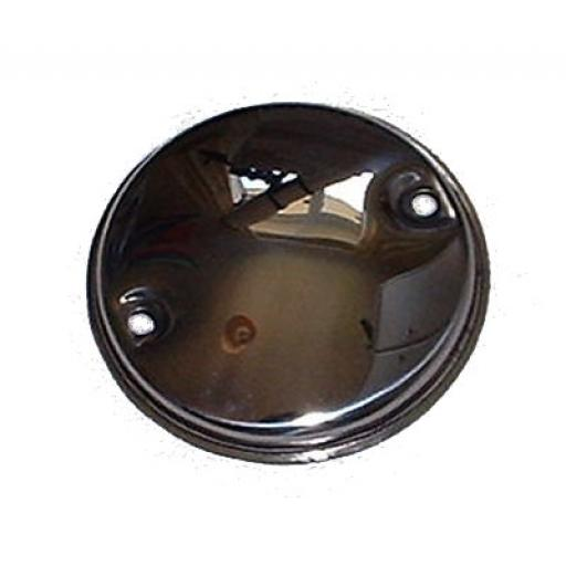 Contact Breaker Cover - Stainless Steel - Triumph Twins - 70-8737