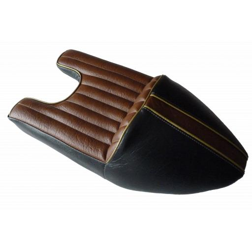 Black and Tan Wideline Triton Seat