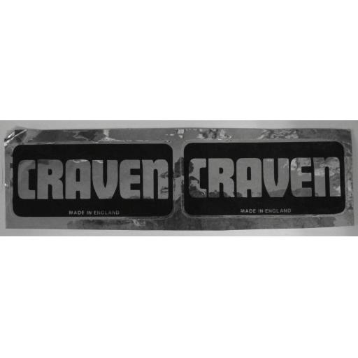 Craven - Made in England - Stickers - Black and Silver