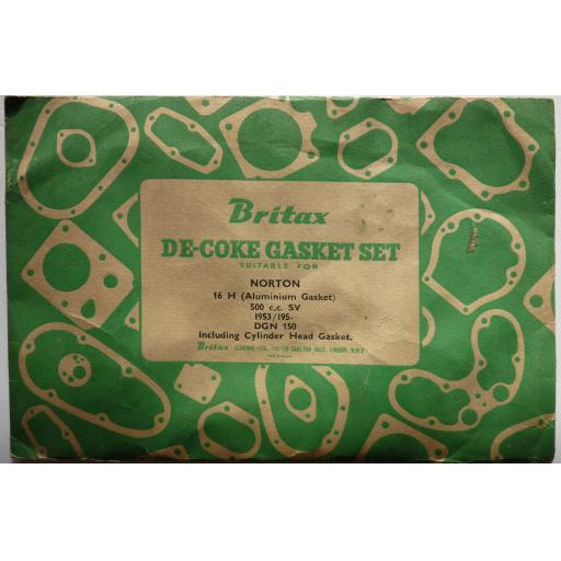 Decoke Gasket Set - Norton 16H 500cc SV - 1953 on