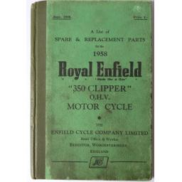 Royal Enfield 350 Clipper OHV Spare Parts List 1958 01.jpg