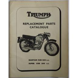 Triumph Replacement Parts Catalogue Bantam Cub Super Cub 1967 01.jpg