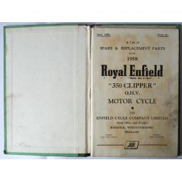 Royal Enfield 350 Clipper OHV Spare Parts List 1958 02.jpg