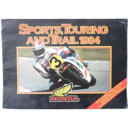 Honda Sports, Touring and Trail 1984 Sales Brochure VF1000F VF1000R VF750F CB900