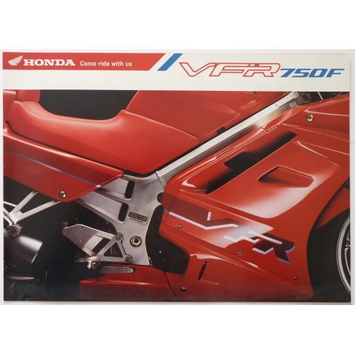Honda VFR750F Sales Brochure - 1991/2