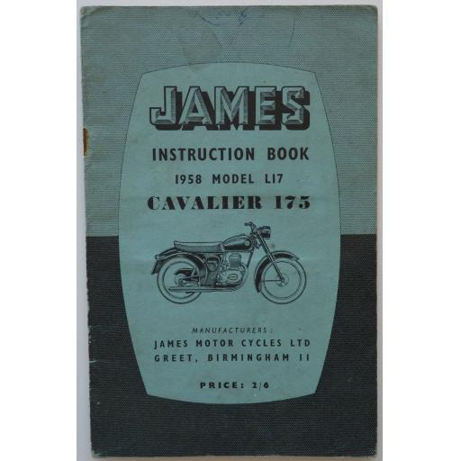 James Instruction Book 1958 Model L17 Cavalier 175