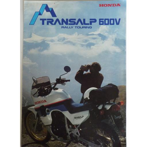Honda Transalp 600V Sales Brochure/Poster Rally Touring 1986