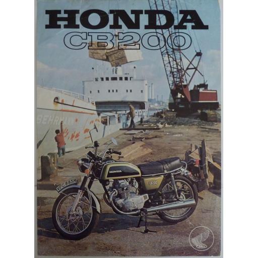 Honda CB 200 Sales Brochure - 1974-5