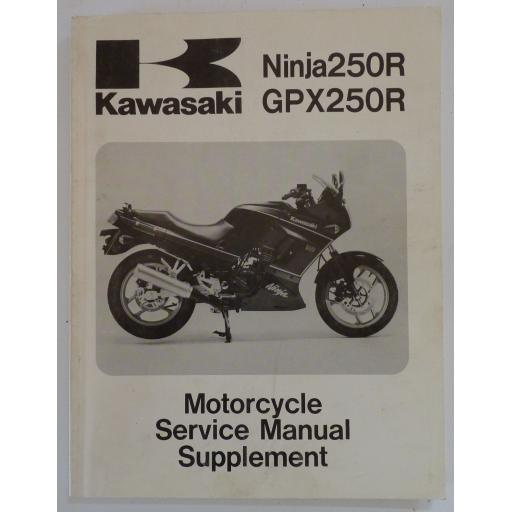 Kawasaki Ninja 250R and GPX250R Motorcycle Service Manual Supplement - 1988-95