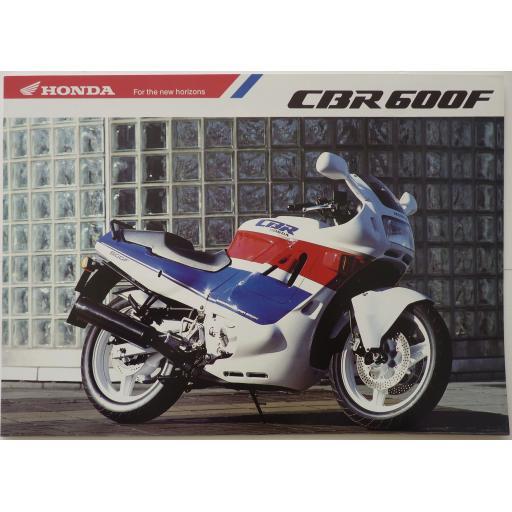 Honda CBR600F Super Sport Sales Brochure - 1989