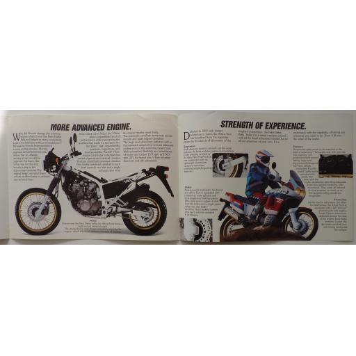 Honda Africa Twin 750 Sales Brochure - 1990