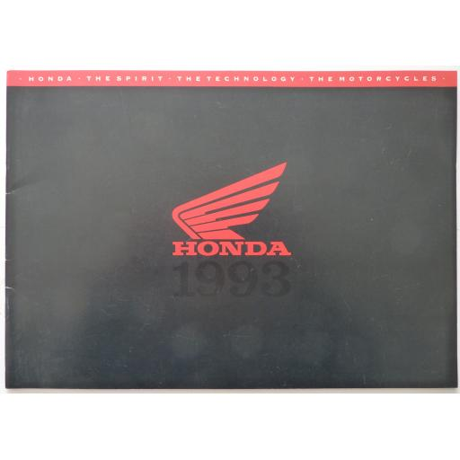 Honda Range of Motorcycles 1993