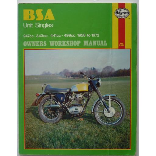 BSA Unit Singles Owners Workshop Manual 1958 - 1972