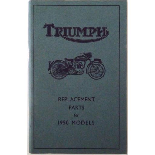 Triumph Motor Cycles 1950 Models Instruction Manual 3T 5T 6T 5TR T100