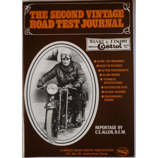 The Second Vintage Road Test Journal - Reportage by by C E Allen - 1974
