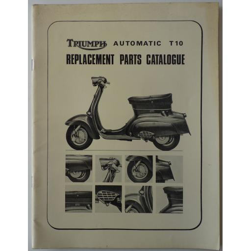Triumph Tina Scooter T10 Replacement Parts Catalogue - March 1966