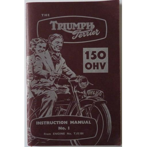 Triumph Terrier Instruction Manual No 1 - 1953